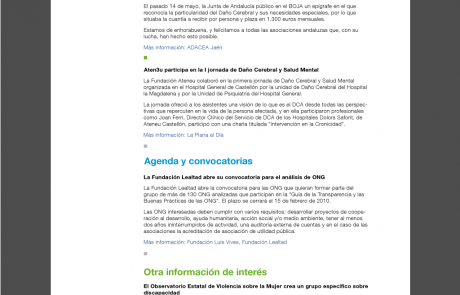 Newsletter de FEDACE